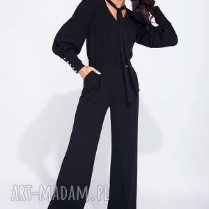 spodnie wieczorowy kombinezon damski z szerokimi spodniami, długi, elegancki