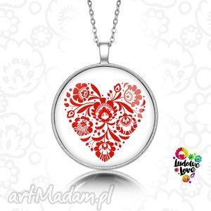 medalion okrągły folk love - folklor, polskie, ludowe, prezent, łowickie