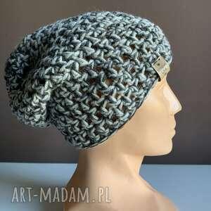 czapki ręcznie robiona czapka pochmurne niebo ii hand made, czapka, czapki