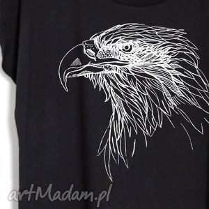 ORZEŁ koszulka oversize czarna, koszulka, bluzka, nadruk, orzeł, bawełna