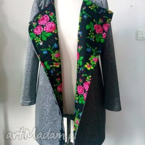 piękny brokatowy płaszcz folk design nowość - folk