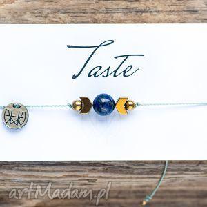 WHW Taste Lapis Lazuli II, lapis, lazuli, sznureczkowa, sznurkowa, delikatna, makrama