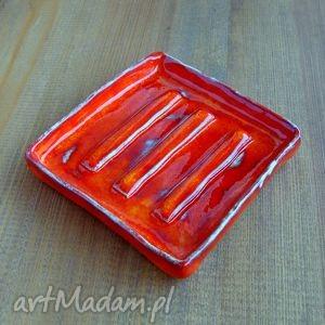 ręcznie robione ceramika rustykalna mydelniczka