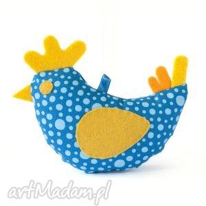 wiosenna niebieska kurka, wielkanoc, zawieszka, ptaszek, dekoracja, zabawka