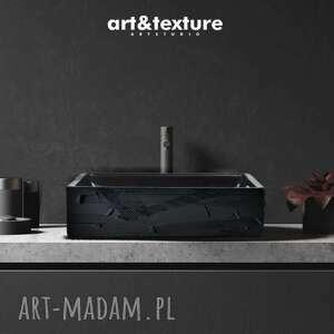 black elegance - artystyczna umywalka nablatowa ze strukturą