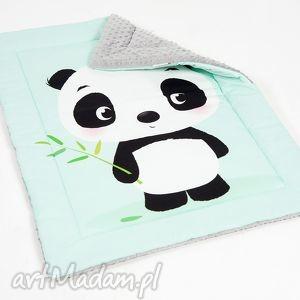 hand made pokoik dziecka kocyk minky - panda - 75x100 cm