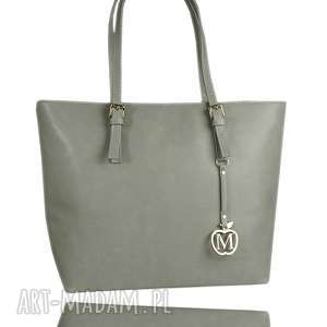 klasyczna torebka manzana miejski styl siwa, klasyczna, elegancka, miejska