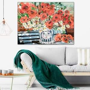 Maki 100 x 70, malarstwo z makami, obraz do domu, apartamentu