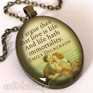 handmade naszyjniki nieśmiertelny romantyzm - owalny medalion z łańcuszkiem