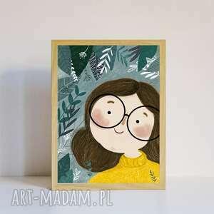 Plakat a4 dżungla plakaty muki design dla dziecka, do pokoju