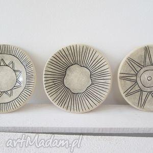3 orientalne talerzyki, ceramiczne, fusetki, na, przekąski, azteckie