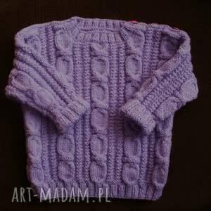 ubranka sweterek liliowy, sweterek, rękodzieło, włóczka
