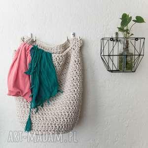 Kosz multifunkcyjny handmade, rękodzieło, sznurek, szydełko, dekoracja, eco, łazienka