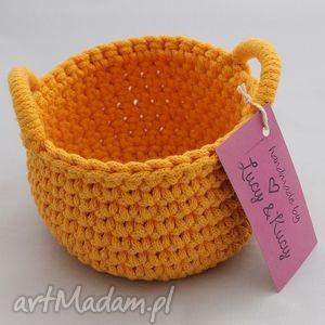żółte kosze - zamówieni specjalne, kosz, koszyczek, bawełna, handmade dom