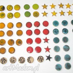 Kaboszony ceramiczne 90 sztuk komplet, kaboszony, ceramiczne, elementy, sutasz