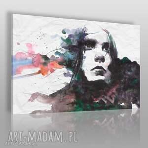 obrazy obraz na płótnie - kobieta portret artystyczny - 120x80 cm (75901)
