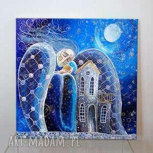 dom to miejsce, gdzie zaczynają się giclee, dom, anioł, miłość, marzenia