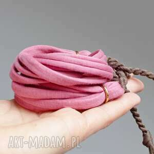 bransoletka bawełniana zawijana na lato, damska bransoletka