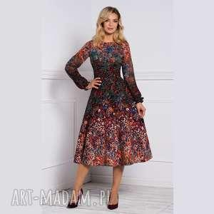 sukienki sukienka aniela total midi celestia, sukienka, midi, rękaw