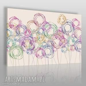 obraz na płótnie - kwiaty koła abstrakcja 120x80 cm 66201, wir, kolorowy, kolory