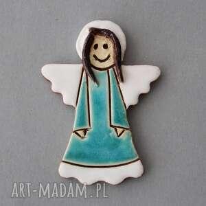 magnesy aniołek-magnes ceramiczny, minimalizm, chrzest, komunia, stróż, prezent