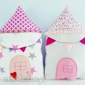 pokoik dziecka poduszka domek, poduszka, proporczyki, pomponiki