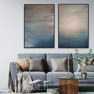 obraz w podwójnym egzemplarzu ręcznie malowany na płótnie 50 x 70