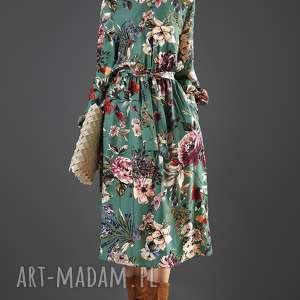 sukienki turkusowa sukienka w kwiaty paloma
