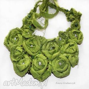 ręcznie wykonane naszyjniki zielony naszyjnik
