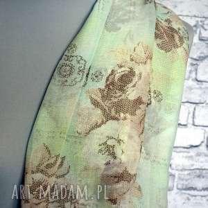 handmade szaliki szyfonowy subtelny szal komin