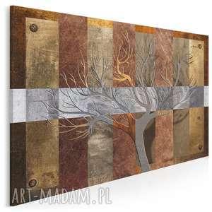 obraz na płótnie - drzewo brązy abstrakcja 120x80 cm 72401, drzewo, elegancki