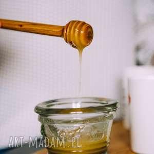 Drewniany czerpak do miodu, rystykalne, miód, kuchnia, rustic
