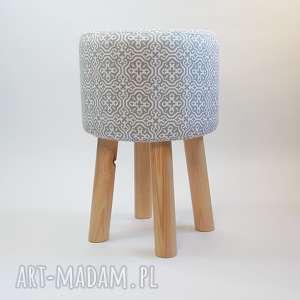 handmade pufy pufa szara mozaika 2 - 45 cm