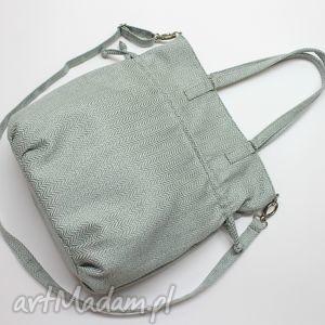 Prezent SHOPPER BAG SACK - tkanina miętowa, elegancka, nowoczesna, prezent, worek
