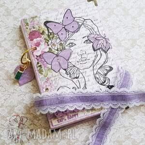 handmade scrapbooking notesy notes / wiosenna dziewczyna