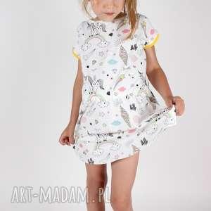 ręcznie wykonane ubranka sukienka z jednorożcem