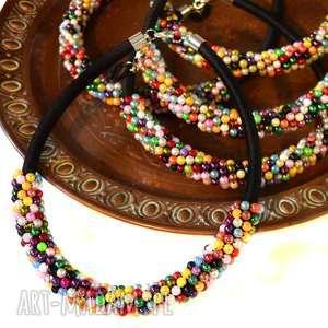 naszyjnik glamorous - perłowy, elegancki, naszyjnik, kolia, perły, glamour