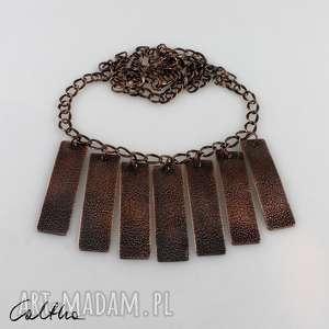 żwirek - miedziany naszyjnik 190227-03, kolia, miedziana, miedź biżuteria