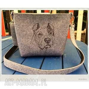 royal trend amerykański staffordshire terrier, amstaf, pies, filcowa, haft, hit