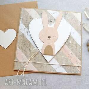ręczne wykonanie kartki królisia gabrysia - kartka na roczek, narodziny