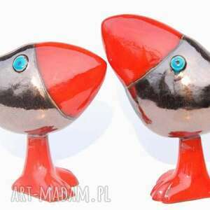 cerama oto szdoki - złote ceramika, zwierzątka, czerwone, figurki