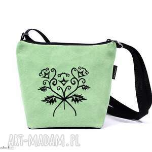 rekaproduction torebka z pięknym haftem miętowa, torebki, haft, wyszywana, ecozamsz