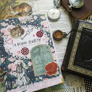 pamiętnik/ notes /alicja w krainie czarów/ są pewne sekrety, alicja, królik
