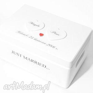 księgi gości ślubne pudełko na koperty kopertówka personalizowane just married
