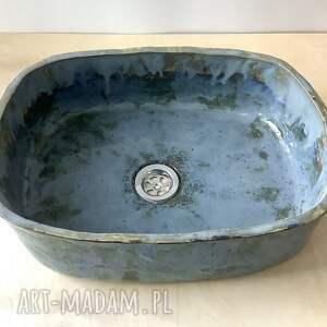 ceramika ręcznie robiona ceramiczna umywalka niebo przed burzą, akcesoria