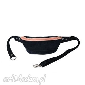nerka black peach - rękodzieło, modna, wygodna, na-spacer, na-rower, pojemna