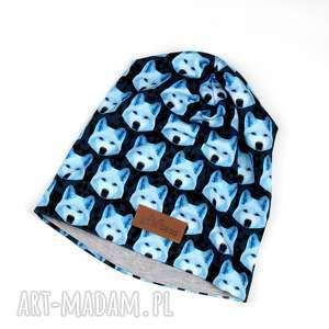Czapka unisex beanie Akita Wilk, czapka, wilk, beanie, unisex, kolorowa, ciepła