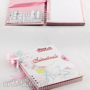 pamiętnik - sekretnik, pamiętnik, notes, handmade, prezent, dziewczynka