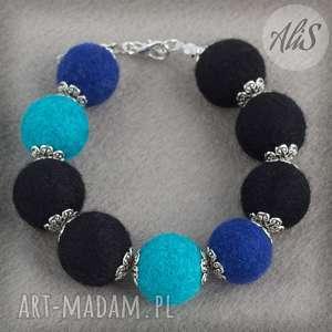 Niebieska elegancja - Ręcznie zrobione