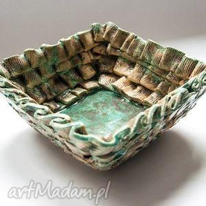 mini fale oceanu, misa, patera, ceramika